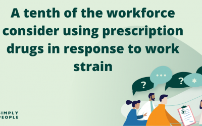 A tenth of the workforce consider using prescription drugs in response to work strain